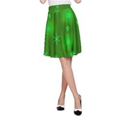 Green Xmas design A-Line Skirt