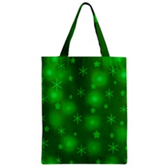 Green Xmas design Zipper Classic Tote Bag