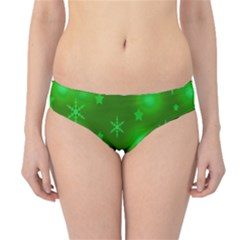 Green Xmas design Hipster Bikini Bottoms