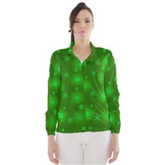 Green Xmas design Wind Breaker (Women)