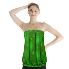 Green Xmas design Strapless Top