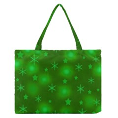 Green Xmas design Medium Zipper Tote Bag