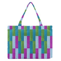Textile Texture Purple Baby Blue Medium Zipper Tote Bag