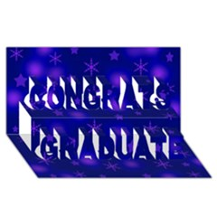 Blue Xmas design Congrats Graduate 3D Greeting Card (8x4)