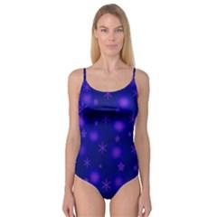 Blue Xmas design Camisole Leotard