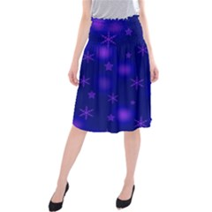Blue Xmas design Midi Beach Skirt