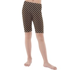 Texture Natural Intertwined Kids  Mid Length Swim Shorts