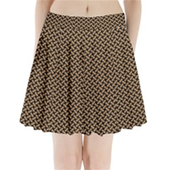 Texture Natural Intertwined Pleated Mini Skirt