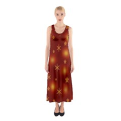 Xmas design Sleeveless Maxi Dress