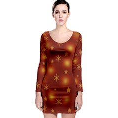 Xmas design Long Sleeve Bodycon Dress