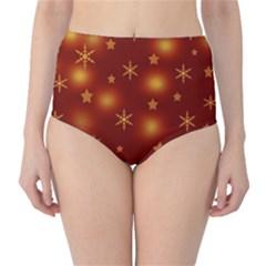 Xmas design High-Waist Bikini Bottoms