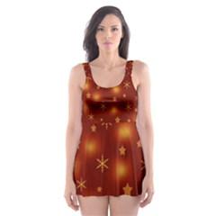 Xmas design Skater Dress Swimsuit