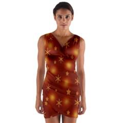 Xmas design Wrap Front Bodycon Dress