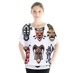 Tribal Masks African Culture Set Blouse