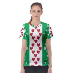 Ugly Holiday Christmas Pattern Women s Sport Mesh Tee