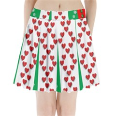 Ugly Holiday Christmas Pattern Pleated Mini Skirt