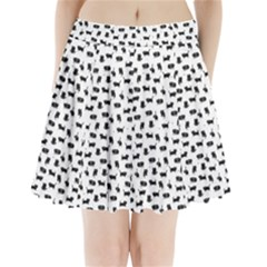 Black Cats  Pleated Mini Skirt