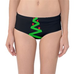 Simple Xmas tree Mid-Waist Bikini Bottoms