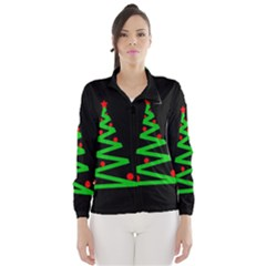 Simple Xmas tree Wind Breaker (Women)