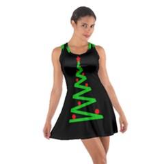 Simple Xmas Tree Cotton Racerback Dress