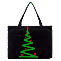 Simple Xmas tree Medium Zipper Tote Bag
