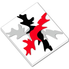 Gray, red and black shape Small Memo Pads