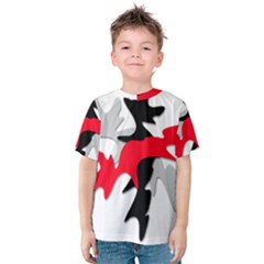 Gray, red and black shape Kids  Cotton Tee