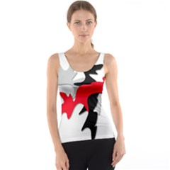 Gray, red and black shape Tank Top