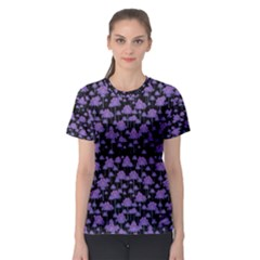 Palm Trees Motif Pattern Women s Sport Mesh Tee