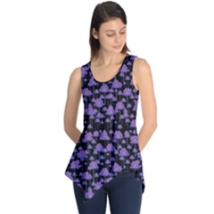 Palm Trees Motif Pattern Sleeveless Tunic
