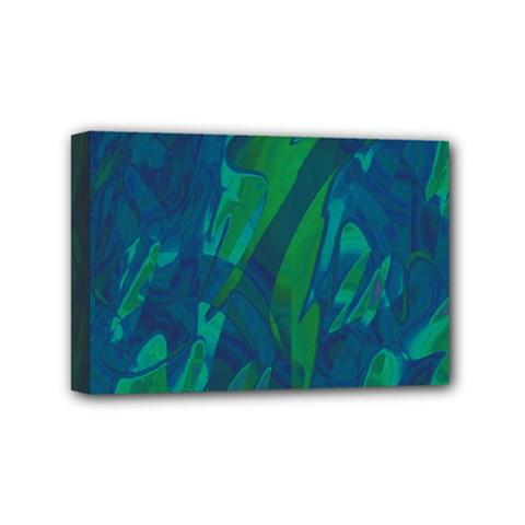 Green and blue design Mini Canvas 6  x 4