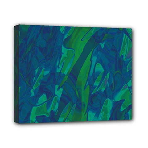 Green and blue design Canvas 10  x 8