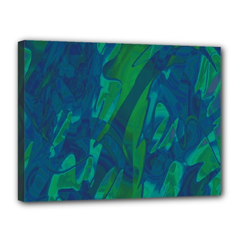 Green and blue design Canvas 16  x 12