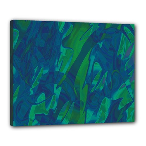 Green and blue design Canvas 20  x 16