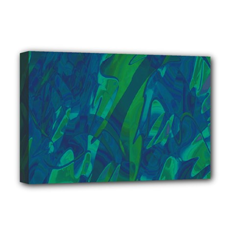 Green and blue design Deluxe Canvas 18  x 12