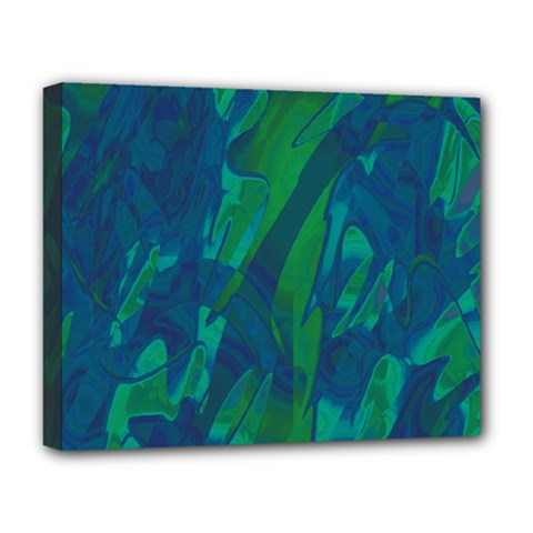 Green and blue design Deluxe Canvas 20  x 16