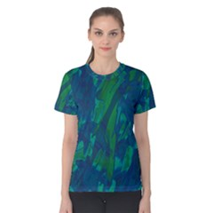 Green and blue design Women s Cotton Tee