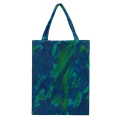 Green and blue design Classic Tote Bag