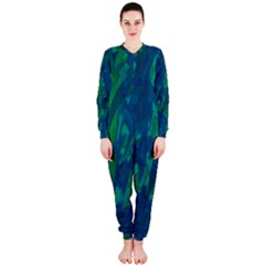 Green and blue design OnePiece Jumpsuit (Ladies)