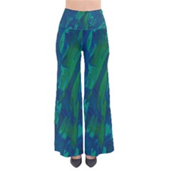 Green and blue design Pants