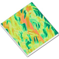 Green and orange abstraction Small Memo Pads