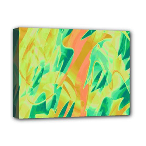 Green and orange abstraction Deluxe Canvas 16  x 12