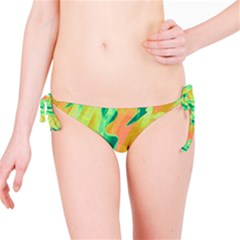 Green and orange abstraction Bikini Bottom
