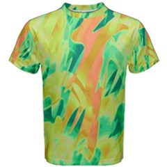 Green and orange abstraction Men s Cotton Tee