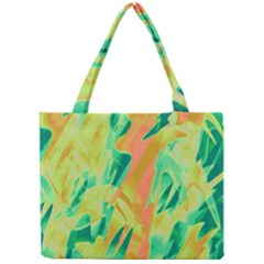 Green and orange abstraction Mini Tote Bag