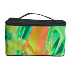 Green and orange abstraction Cosmetic Storage Case