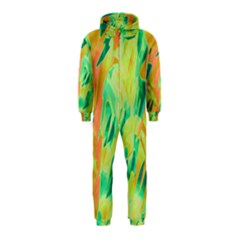 Green and orange abstraction Hooded Jumpsuit (Kids)