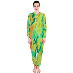 Green and orange abstraction OnePiece Jumpsuit (Ladies)