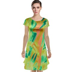 Green and orange abstraction Cap Sleeve Nightdress