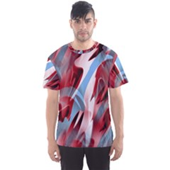 Blue and red smoke Men s Sport Mesh Tee